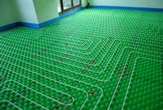Het vloer verwarmingssysteem stock foto