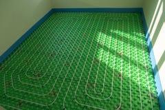 Het vloer verwarmingssysteem stock afbeeldingen