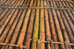 Het vlot van het bamboe Royalty-vrije Stock Foto's