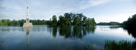 Het vlotte meer in Tsarskoye Selo Stock Foto