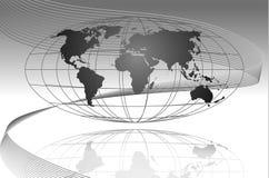 Het vlotte varen in globaal Stock Afbeelding