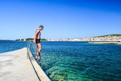 Het Vodice-strand, Kroatië stock foto's