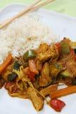 Het voedsel Azië van de wok Stock Afbeeldingen