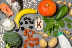 Het voedsel is bron van kalium royalty-vrije stock foto's