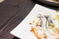 Het voedsel in de plaat Royalty-vrije Stock Afbeelding