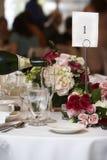 Het voedsel en de drank van het huwelijk Stock Fotografie