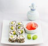 Het Voedsel van Californië broodje-Japanner van het sushibroodje Stock Fotografie