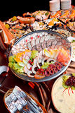 Het voedsel van de catering stock afbeeldingen