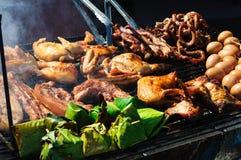 Het voedsel van de grill Stock Foto's