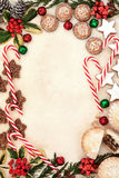 Het Voedsel van de Kerstmispartij Stock Foto's