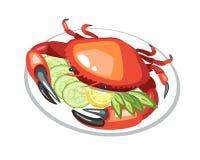 Het voedsel van de krabschotel Stock Foto
