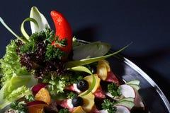 Het voedsel van de partij op plaat Royalty-vrije Stock Foto's
