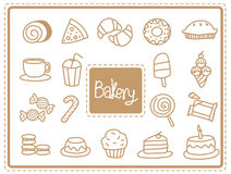 Het voedsel van de pictogrambakkerij Royalty-vrije Stock Foto