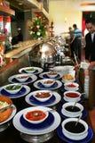 Het voedsel van de specerij bij het ontbijt van het restaurantbuffet Stock Afbeelding