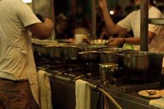 Het voedsel van de straat in Bangkok stock afbeeldingen