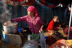 Het Voedsel van de straat in Nepal stock foto