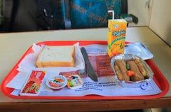 Het voedsel van de de treinspoorweg van Jaipur, maaltijd India Royalty-vrije Stock Afbeelding