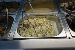 Het voedsel van de zelfbedieningskantine Stock Fotografie