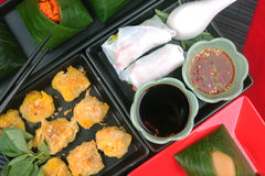 Het voedsel van Hai met kleverige rijst Stock Afbeeldingen