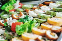 Het voedsel van het buffet Stock Fotografie