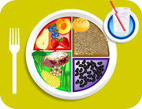 Het Voedsel van het Diner van de veganist Mijn Plaat Stock Afbeelding