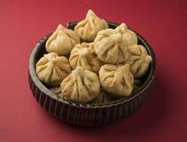 Het voedsel van het Maharashtrianfestival, modak Royalty-vrije Stock Foto