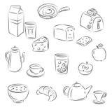 Het voedsel van het ontbijt Royalty-vrije Illustratie