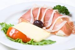 Het voedsel van het restaurant Royalty-vrije Stock Afbeeldingen