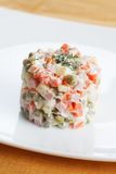 Het voedsel van het Russische traditionele Nieuwjaar Royalty-vrije Stock Afbeeldingen