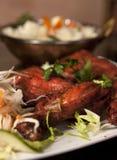 Het voedsel van India - kip Tandori Stock Foto's