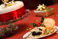 Het Voedsel van Kerstmis royalty-vrije stock fotografie