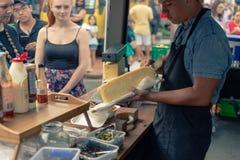 Het Voedsel van Market Street van de Rotoruanacht Rotorua Nieuw Zeeland royalty-vrije stock afbeeldingen