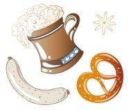 Het Voedsel van Oktoberfest Royalty-vrije Stock Afbeeldingen