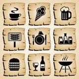 Het voedsel van pictogrammen Royalty-vrije Stock Afbeeldingen