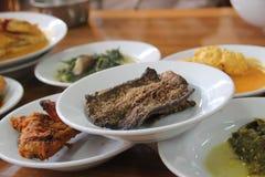 Het Voedsel van Rendang Royalty-vrije Stock Fotografie