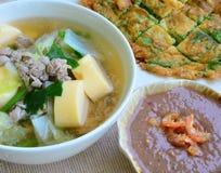 Het voedsel van Thailand (Spaanse peperdeeg). Royalty-vrije Stock Foto's