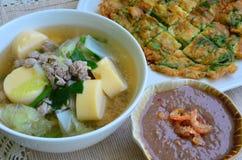 Het voedsel van Thailand (Spaanse peperdeeg). Stock Fotografie