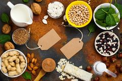Het voedsel van veganistproteïnen Stock Foto's