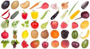 Het voedsel van vruchten en van groenten Stock Foto