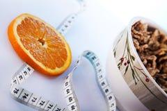 Het voedsel van Wellness en dieetontbijt Stock Foto