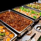 Het voedselbuffet van Thailand royalty-vrije stock afbeelding