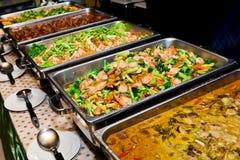 Het voedselbuffet van Thailand stock afbeelding