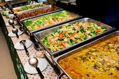 Het voedselbuffet van Thailand stock afbeeldingen