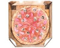 Het voedselillustratie van de pizzawaterverf stock illustratie