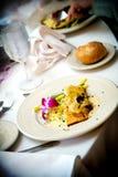 Het voedsellijst van het huwelijk het plaatsen royalty-vrije stock foto