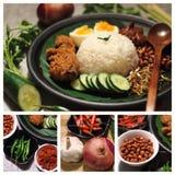 Het voedselnasi van Maleisië lemak Royalty-vrije Stock Afbeelding