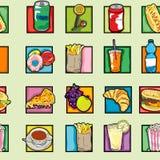 Het voedselpatroon van het pop-art Royalty-vrije Stock Afbeelding