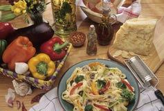 Het voedselplaat van deegwaren Stock Foto