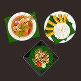 Het voedseltom van Thailand yum het kleverige stootkussen Thai van de rijstmango Royalty-vrije Stock Afbeelding