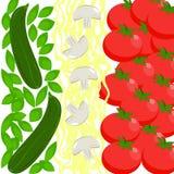 Het Voedselvlag van Italië Stock Fotografie